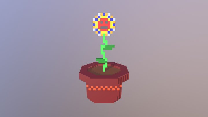 Flower in pot 3D Model