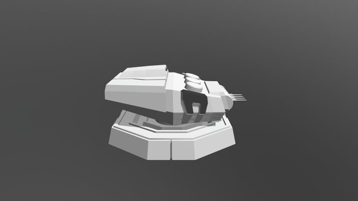 Heavy Turbolaser Cannon V1 3D Model