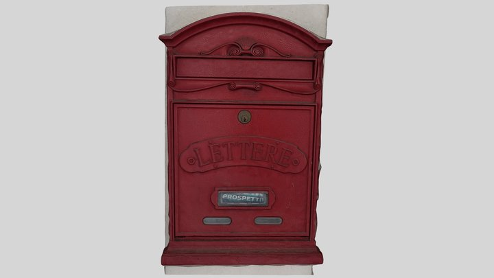 Red Letterbox - Letter Box 3D Model