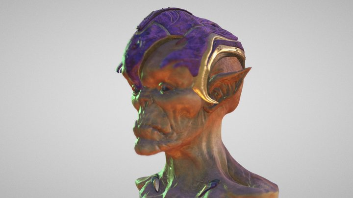 Ancient Alien (Low Poly Version) 3D Model