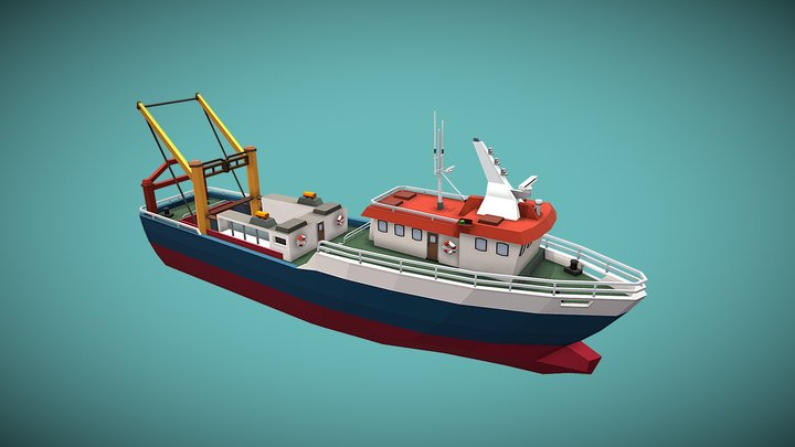 Trawler 3D Model