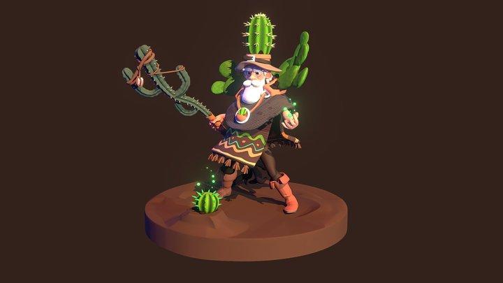Cactus Druid 3D Model