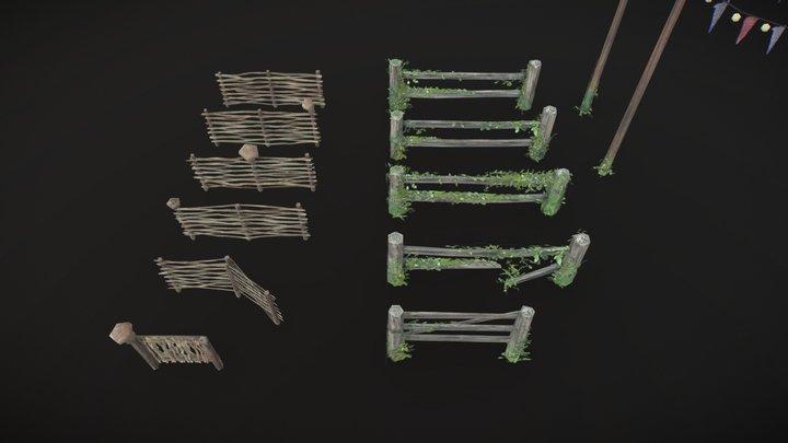 Fences - lowpoly 3D Model