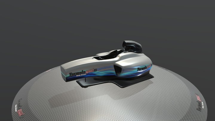 Mercedes Half Cockpit - Formulaspeed 3D Model