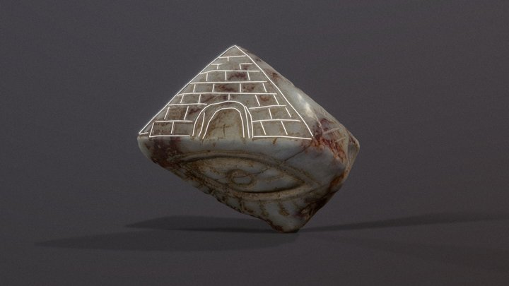 Pendant with the image of pyramids | Mexico 3D Model