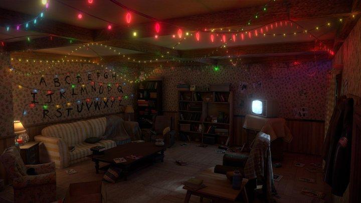 Stranger Things Living room 3D Model
