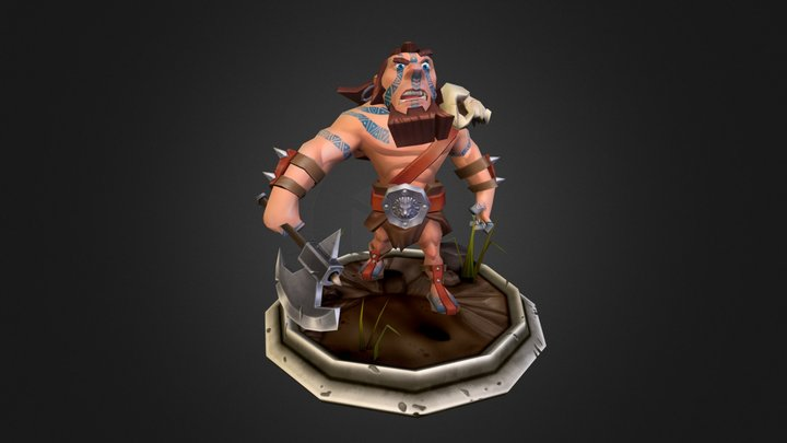 The Barbarian 3D Model