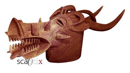 Senufo helmet mask from Ivory Coast 3D Model