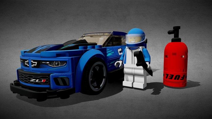 LEGO CHEVROLET CAMARO ZL1 RACE CAR - 75891 3D Model