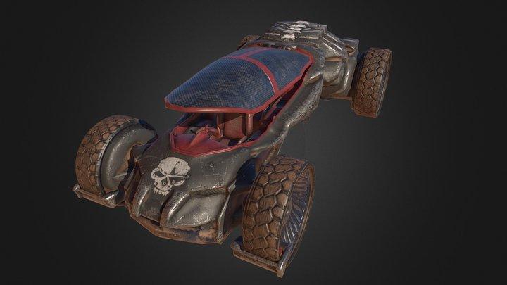 Substance Futuristic Post Apocalyptic Car 3D Model