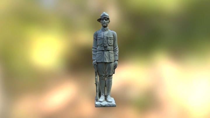 Marine Statue 3D Model