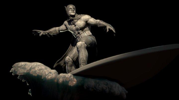 Surfing Batman 3D Model