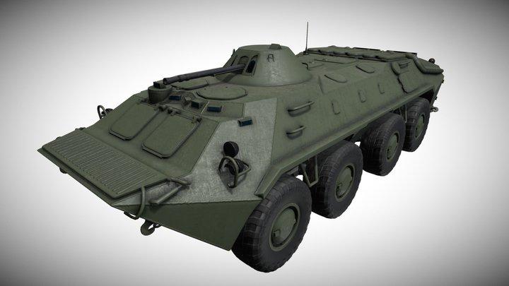 Russian BTR-70 3D Model