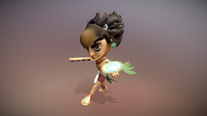 Aztec Xilo - Eagle Warrior 3D Model