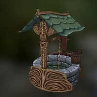 Well - Low Poly 3D Model