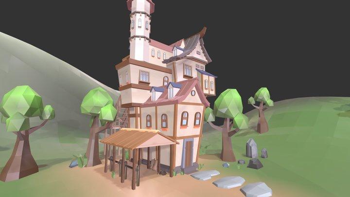 Big Medieval Inn 3D Model