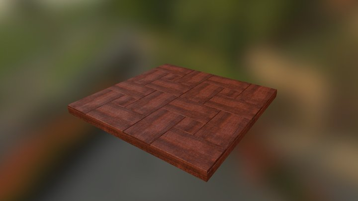 Tiled Wood Floor 3D Model