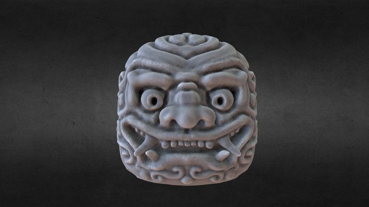 Japanese style head 3D Model