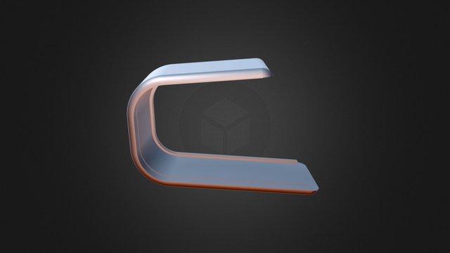 BALIE MET EINDSTUK 3D Model