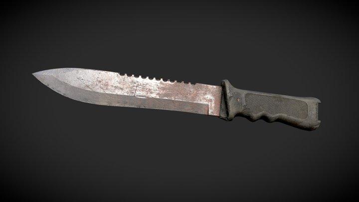 Old Survival Knife 3D Model