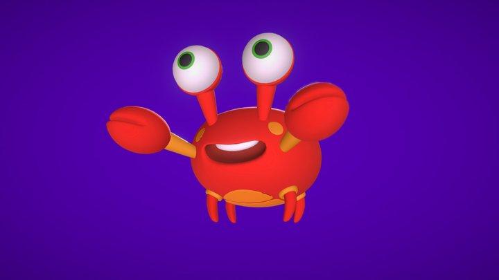 Stylised Crab 3D Model