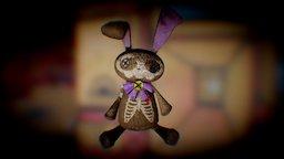 Skeleton Bunny Plushie - Downloadable 3D Model