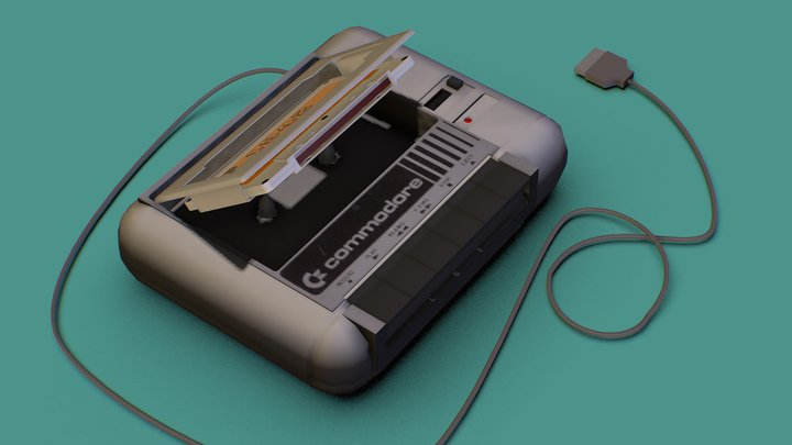 Commodore 64 Dattassette 3D Model