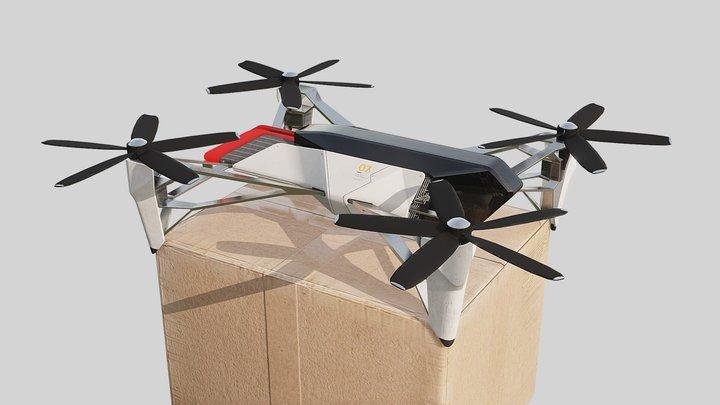 Cargo Drone 3D Model
