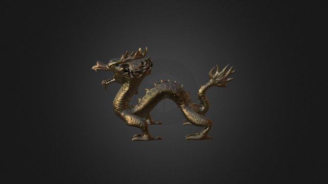 Asian dragon 3d model 3D Model
