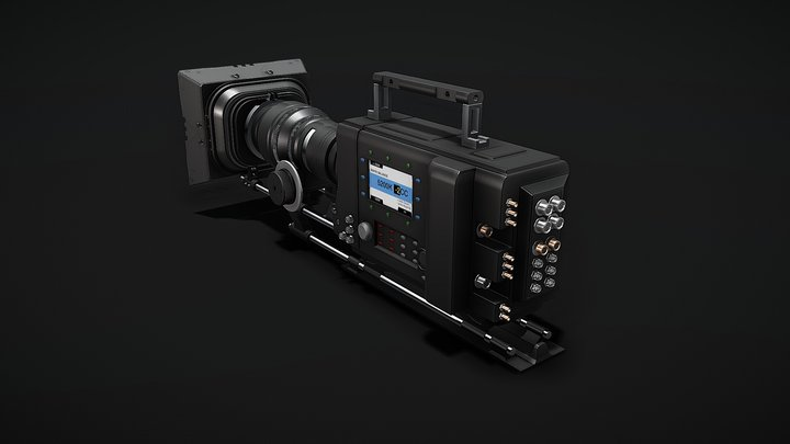 Professional Digital Video Camera 3D Model