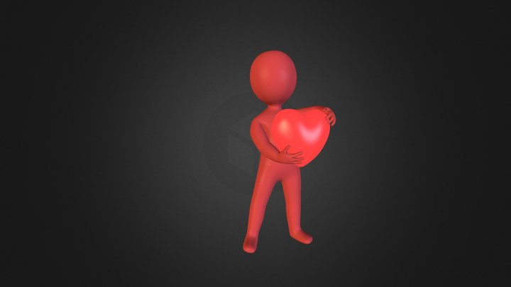 holding heart for you  3D Model