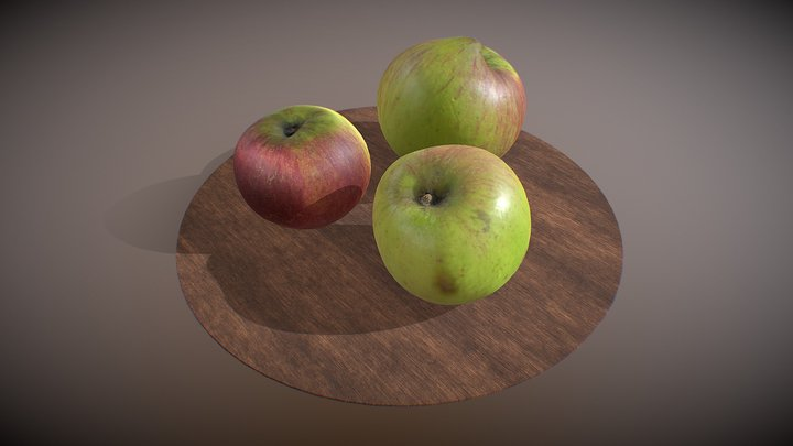 Bramley cooking apple three pack photogrammetry 3D Model