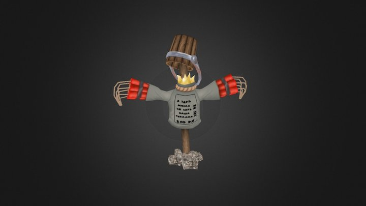 Scarecrow handpaint 3D Model