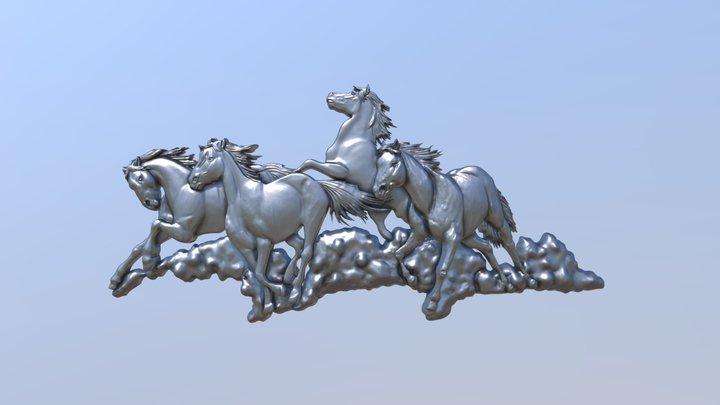 Galloping Horses 3D Model
