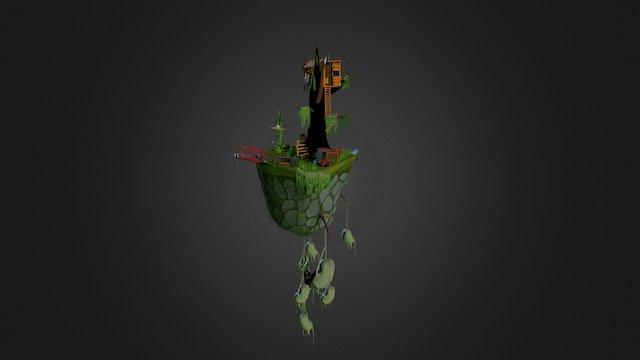 Bastion Floating Island 3D Model