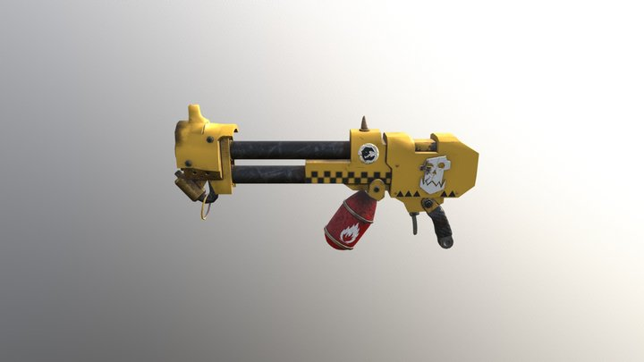 40k Looted Flamer - Bad Moonz Skin 3D Model