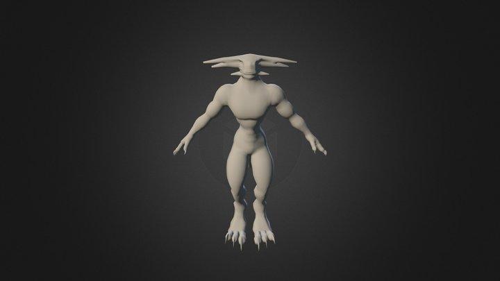 Reptilian Character 3D Model