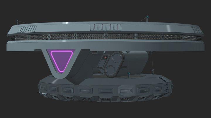 X-40r Wraith-Class Scoutship 3D Model