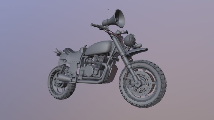 Mescaline's motorbike (no texture/no smooth) 3D Model