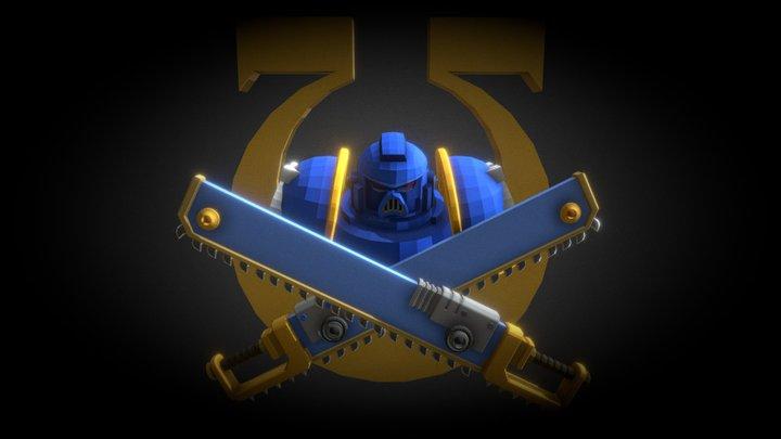 Jolly Roger Ultra Marine FanArt 3D Model