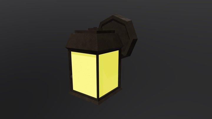 Low Poly Wall Lantern 3D Model