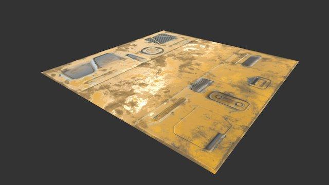 SciFi Corridor Ceiling 3D Model