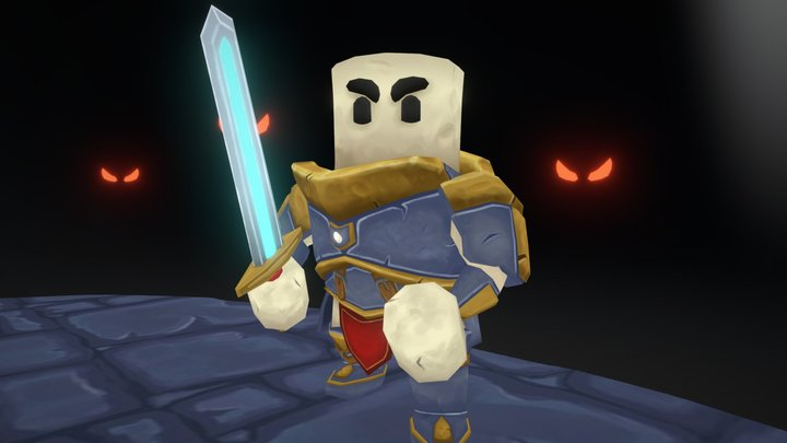 Marshall The Knight In Trouble 3D Model