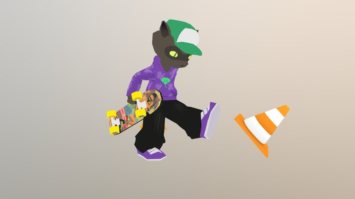 Raccoon Kid 3D Model