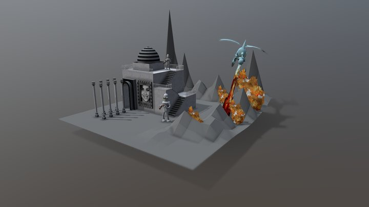 มัสสึยิดที่มีมังกร 3D Model