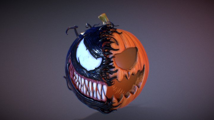 Pumpkin Venom 3D Model
