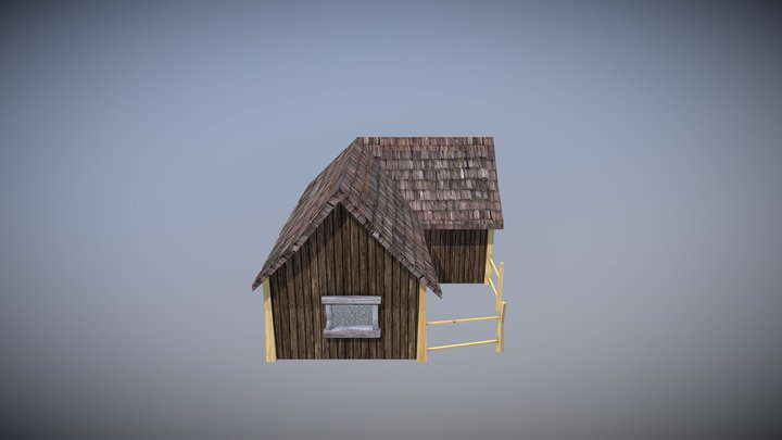 Low poly hut 3D Model