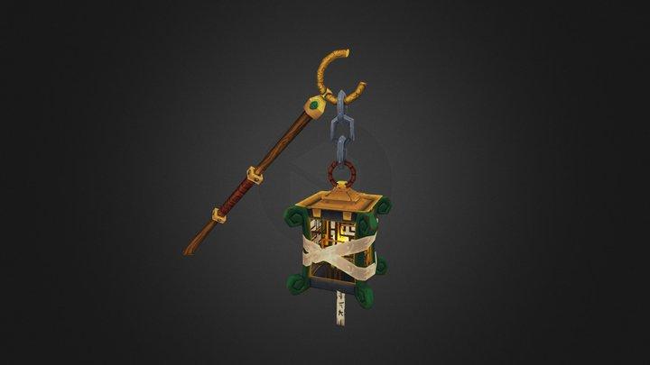 Blizz Weapon Contest Caster Mace 3D Model