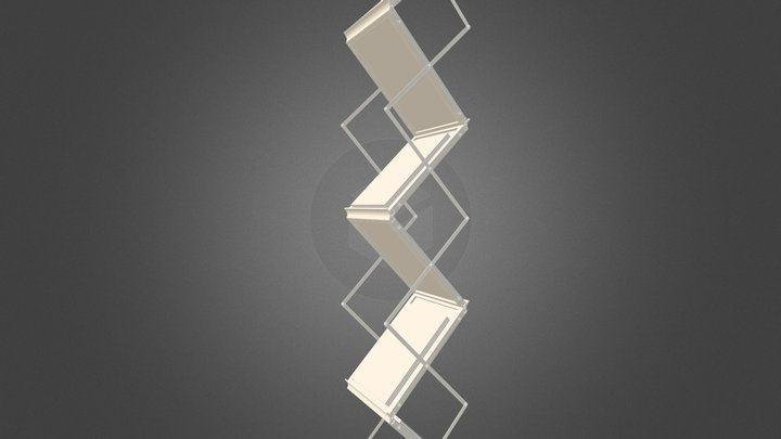 Folding Brochure Stand 3D Model
