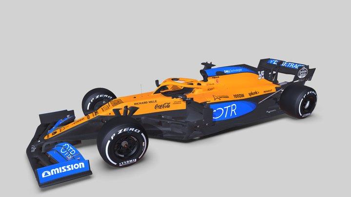 F1 2020 McLaren MCL35 3D Model